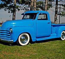 1950 Chevrolet truck Baby Blue by Randy Branham