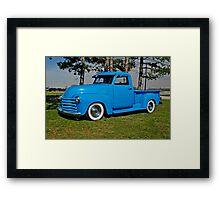 1950 Chevrolet truck Baby Blue Framed Print