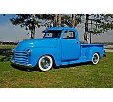 1950 Chevrolet truck Baby Blue Photographic Print
