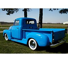 1950 Chevrolet Pick Up Baby Blue Photographic Print