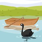 ROWBOAT- black swan (AQUATIC VEHICLES) by alapapaju