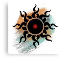 Retro Vinyl Records - Vinyl With Paint - Music DJ Design Canvas Print