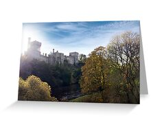 Lismore castle over the blackwater river Greeting Card