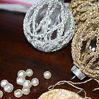 Vintage Metallic Crochet Glass Balls by suburbanjubilee