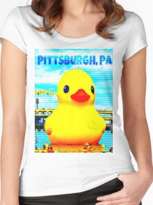 Pittsburgh, PA Duck Women's Fitted Scoop T-Shirt
