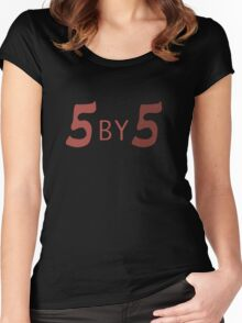 5 by 5 Women's Fitted Scoop T-Shirt