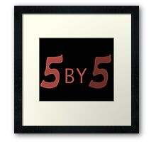 5 by 5 Framed Print