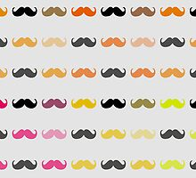 Funny Girly Mustache by Nhan Ngo
