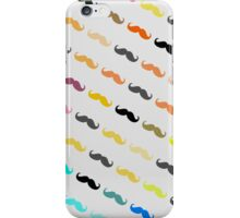 Funny Girly Mustache 2 iPhone Case/Skin