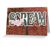 Halloween Scream Greeting Card