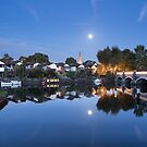 Moonrise over Weybridge by Rachael Talibart