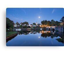 Moonrise over Weybridge Canvas Print