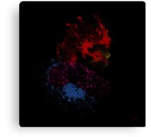 Paint Splatter Street Fighter: Akuma Canvas Print