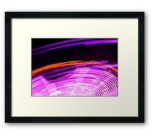 Neon Spin Framed Print