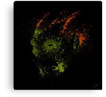 Paint Splatter Street Fighter: Blanka Canvas Print