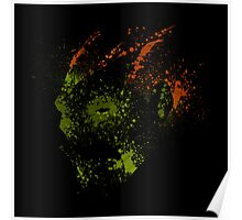 Paint Splatter Street Fighter: Blanka Poster