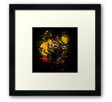 Paint Splatter Street Fighter: Ken Framed Print