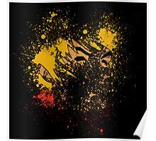 Paint Splatter Street Fighter: Ken Poster