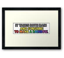 Rainbow logic! Framed Print