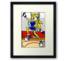 Maria Performing Rhythmic Ribbon Framed Print