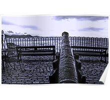 Canon At The Ready-Lyme Regis,Dorset,UK Poster