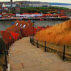 The 199 Steps at Whitby by Paul Bettison