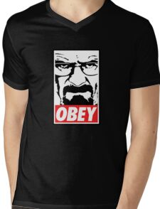 Obey Heisenberg Mens V-Neck T-Shirt