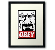 Obey Heisenberg Framed Print
