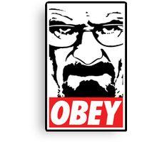Obey Heisenberg Canvas Print