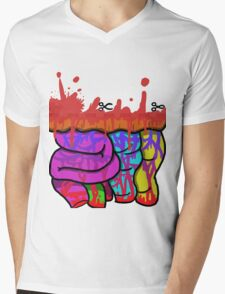 cut the dotted line for a prize Mens V-Neck T-Shirt