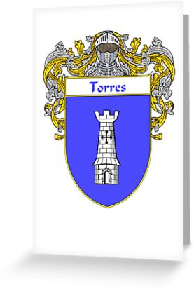 Torres Coat of Arms/Family Crest by William Martin