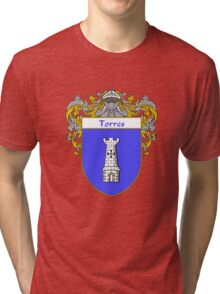 Torres Coat of Arms/Family Crest Tri-blend T-Shirt