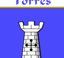 Torres Coat of Arms/Family Crest Sticker