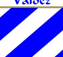 Valdez Coat of Arms/Family Crest Sticker