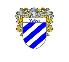 Valdez Coat of Arms/Family Crest Photographic Print