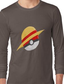 Pokeball and Luffy's hat Long Sleeve T-Shirt