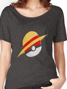 Pokeball and Luffy's hat Women's Relaxed Fit T-Shirt