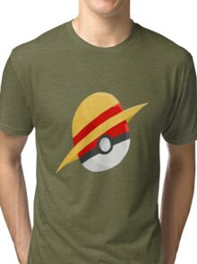 Pokeball and Luffy's hat Tri-blend T-Shirt
