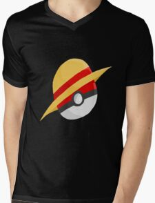 Pokeball and Luffy's hat Mens V-Neck T-Shirt