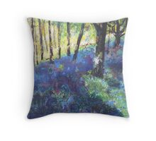 In the Bluebell Woods  Throw Pillow