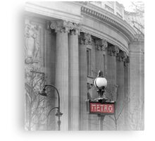 Paris Metro Grand Palais Canvas Print