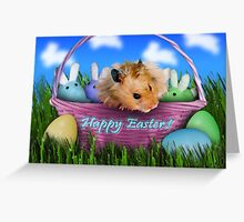 Easter Hamster Greeting Card