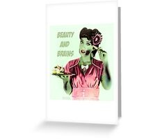 Zombie Vintage Halloween Card Greeting Card