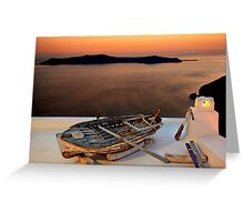 The boat has landed Greeting Card