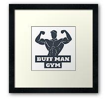 Buff Man Gym Framed Print