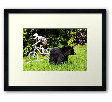 Mountain biking in Whistler, Canada Framed Print