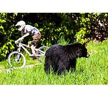 Mountain biking in Whistler, Canada Photographic Print