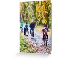 Family Bike Ride Greeting Card