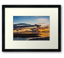 Sunset over the Inner Hebrides Framed Print