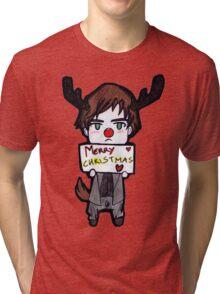 Alan wish you a Merry Christmas˜ Tri-blend T-Shirt
